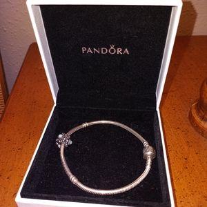 Pandora Retired SterlingSilver925 Bracelet & Charm